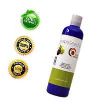 Pure Grapeseed Oil for Hair, Face & Acne - Cold Pressed &