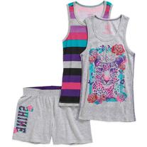 Faded Glory Girls' Graphic Tank, Stripe Tank and Graphic
