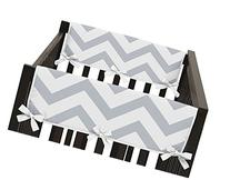 Gray and White Chevron Zig Zag Teething Protector Cover Wrap