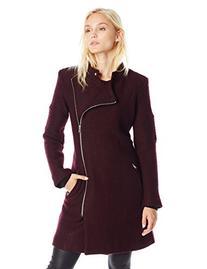 BB Dakota Women's Grayson Boiled Wool Coat with Sleeve