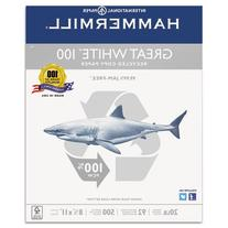 Hammermill Paper, Great White 100% Recycled Copy Paper, 20lb
