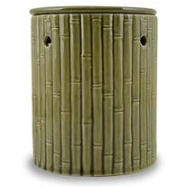 Green Bamboo Pattern Ceramic Stoneware Electric Wax and Oil