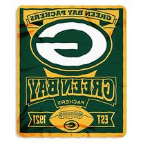 NFL Green Bay Packers Marque Printed Fleece Throw, 50-inch