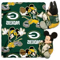 NFL Green Bay Packers Mickey Mouse Pillow with Fleece Throw
