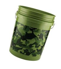 Leaktite 5glcmo Green Camouflage Bucket, 5 Gallon