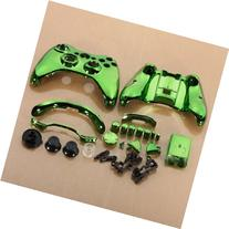 SODIAL Green Chrome Custom Wireless Controller Replacement