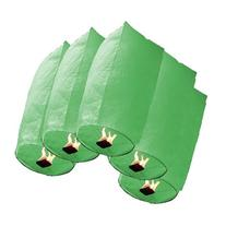 20 Pcs Green Cylinder Shaped Chinese Sky Fly Fire Paper