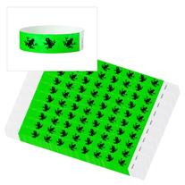 "WristCo Green Frogs 3/4"" Tyvek Wristbands - 500 Pack Paper"