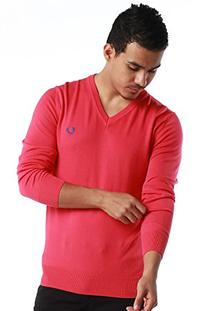 Fred Perry Green Label Men's Sweatshirt Medium Pink V-Neck