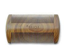 EQLEF® Green sandalwood no static handmade comb,Pocket