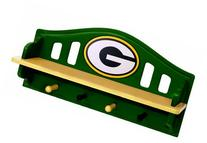 Fan Creations Green Bay Packers Shelf with Pegs