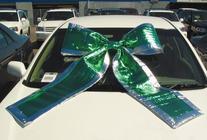 GREEN Shiny Giant Car Bow