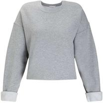 Miss Selfridge Grey Cropped Sweatshirt