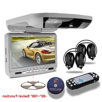 XTRONS® 9-inch Grey Flip Down Monitor and DVD Player with