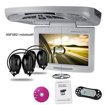 "XTRONS® Grey 11"" Overhead Car DVD Player Roof Flip Down"