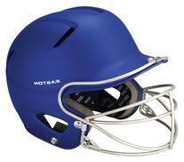 Easton Natural Grip Junior Batting Helmet with Mask, Royal