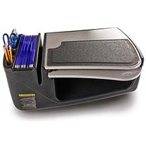 AutoExec GripMaster Car Desk in Gray Style: Retractable