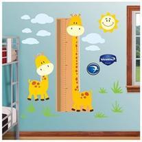 Growth Chart Giraffe-Fathead: set