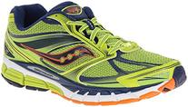 Saucony Men's Guide 8 Running Shoe,Lime/Navy/Orange,10 M US