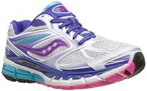 Saucony Women's Guide 8 Running Shoe,White/Twilight/Pink,7 M