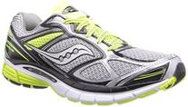 Saucony Men's Guide 7 Running Shoe,White/Black/Citron,10.5 M