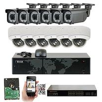 GW 16 Channel 1920P NVR Video Security Camera System - 6 x