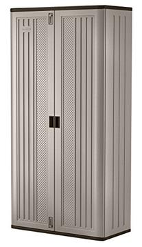 Suncast Mega Tall Storage Cabinet, Platinum