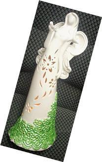 "QVC H202572 14"" Porcelain Angel Luminary - Green"