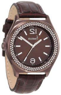 Freelook Women's HA1213B-2 Sunray Brown Dial Swarovski Bezel