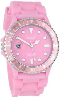 Freelook Women's HA1433-5 Sea Diver Jelly Pink Silicone Band