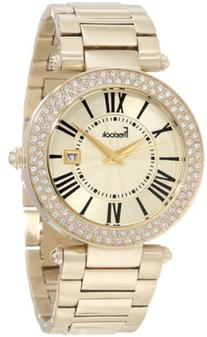 Freelook Women's HA1538GM-3 All Shiny Gold Plated Dial