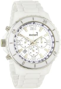 Freelook Men's HA5108-9 Lagon White Ceramic Chrono Silver