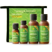 DermOrganic Hair Care Travel Set, 4 Count