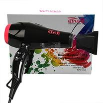 Berta 1875W Negative Ion Hair Blow Dryer with 2 Speed and 3