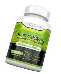 Hair Growth Vitamins Supplement - 5000 mcg Biotin & DHT