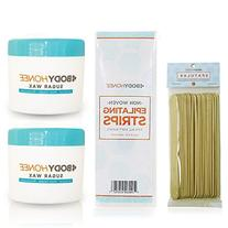 BodyHonee Hair Removal Sugar Wax Kit for Men + Women - Super