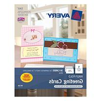 Avery Half-Fold Greeting Cards for Inkjet Printers, 5.5