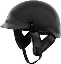 Fuel Helmets SH-HHGL15 HH Series Half Helmet, Gloss Black,