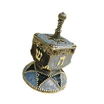 """2.5"""" Hand Painted Traditional Dreidel By Quest Gifts"""