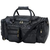 Embassy Hand-Sewn Pebble Grain Genuine Leather 21'' Tote Bag