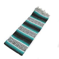 Hand Woven Premium Mexican Yoga Blanket Teal