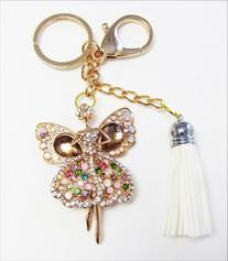 1 Pc Handmade Angel Ballerina Rhinestone Keychain and Purse