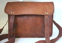 HandMadeCart Men's Auth Real Leather Messenger Laptop