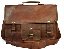 Rustic Town Genuine Leather Laptop Bag Leather Messenger bag
