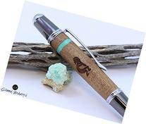 Handmade Schimmel Pen, Arizona Mesquite with Turquoise and a