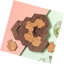 Handmade Wood mind game, 6 challenging puzzle parts in