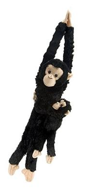 "Wild Republic Hanging 20"" Chimp with Baby Plush"