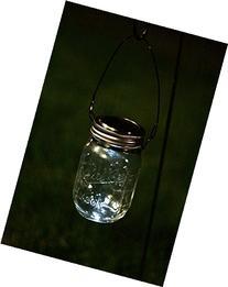 Hanging Clear Mason Jar Solar Powered Lantern, Mason Jar