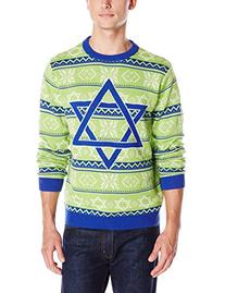 Alex Stevens Men's Hannukah Nights Ugly Holiday Sweater,