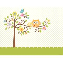 Creative Converting Happi Tree Sweet Baby Plastic Tablecover